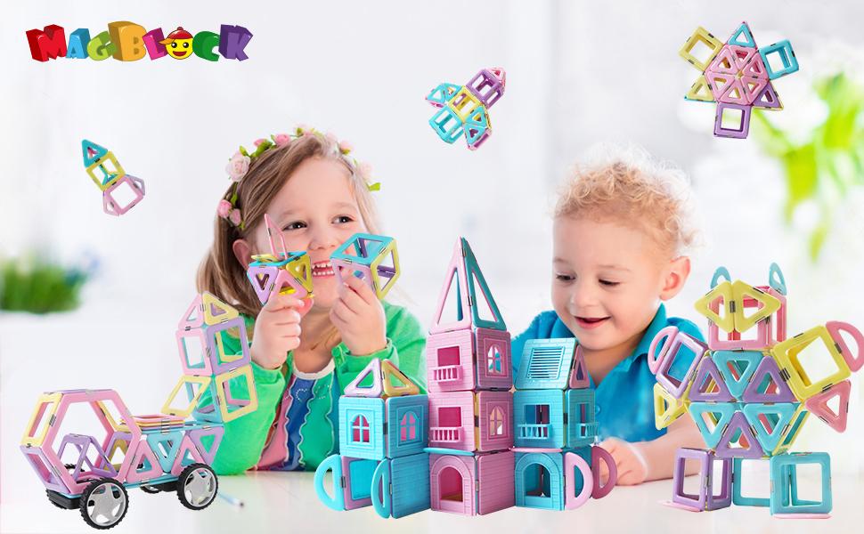 magnetic building blocks  for boys girls