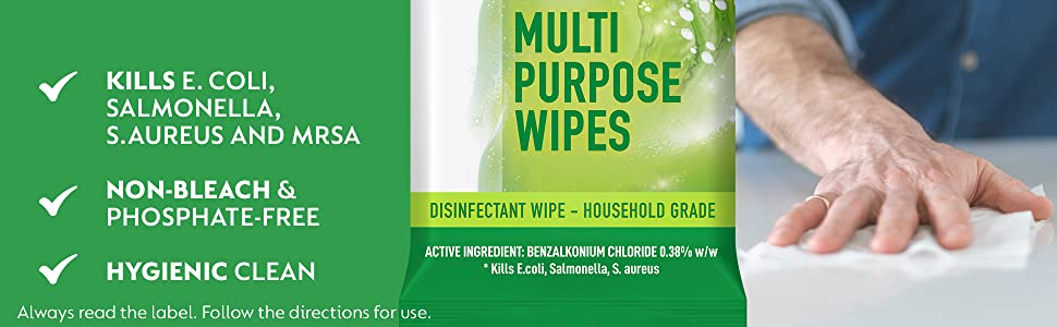 wipes; wipe; multipurpose wipes; disinfectant wipes; antibacterial wipes; surface wipes