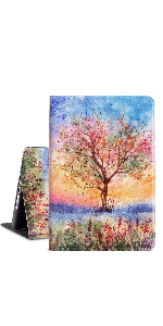 Sunset Watercolor Tree ipad case