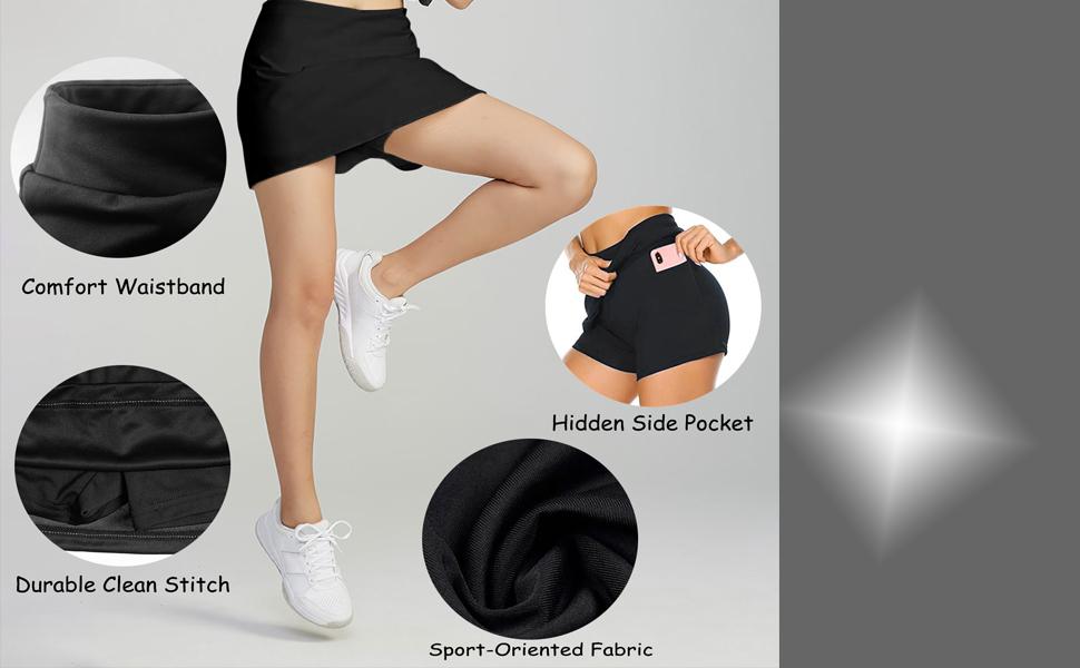 tennis skirts golf skort running gym cheerleader sports skirts for women girls ladies