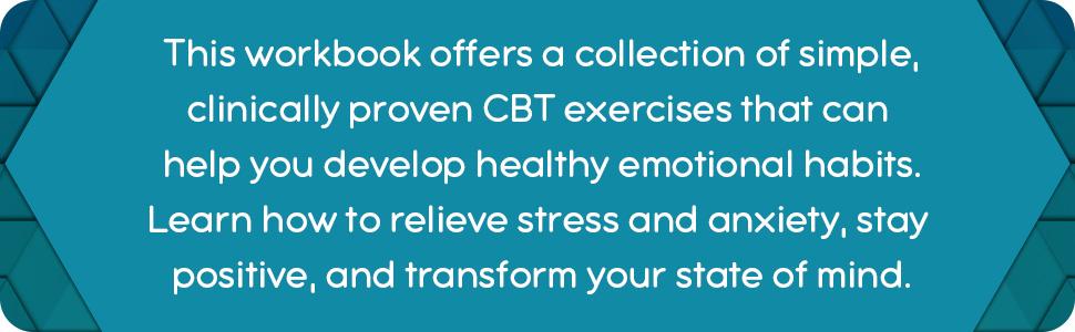 CBT workbook,mental health workbook,anxiety,depression,anxiety workbook,CBT,CBT workbook for adults