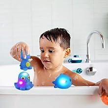 light-up octopus whale bath toys
