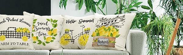 summer leomon Pillow Covers 18x18