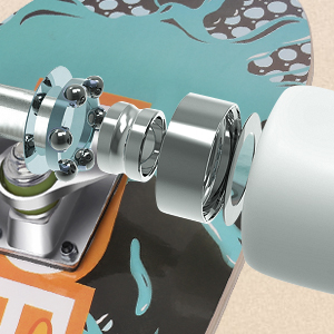 durable to withstand riders up to 220lbs, equipped with genuine aluminum 7 Inch alloy trucks