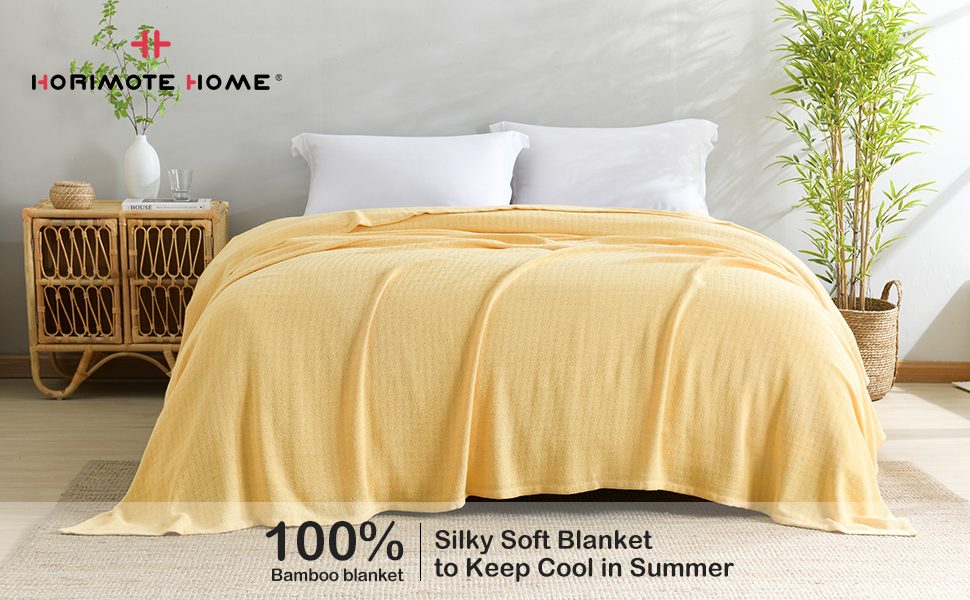 100% Bamboo blanket for bed