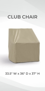 Formosa Covers High Back Tall Outdoor Dining Chair Cover Protect Heavy Duty Against Rain Sun Damage