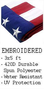 VSVO US American flags for outdoor indoor