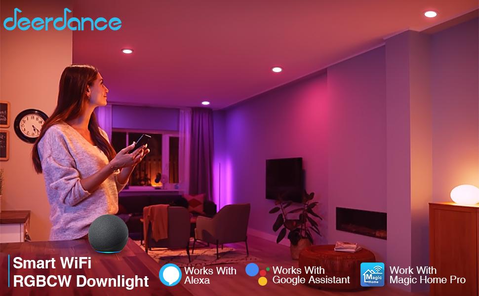 deerdance smart wifi rgbcw downlight