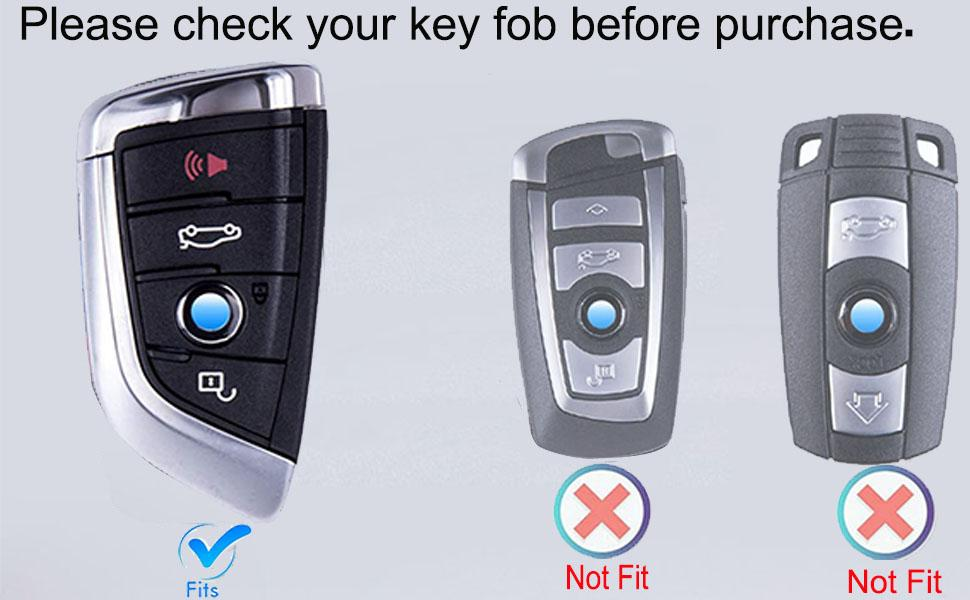 Car Key Fob Cover Accessories Fit for BMW
