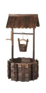 Wooden Wishing Well Planter wooden planter yard decorations wishing wells for outdoors