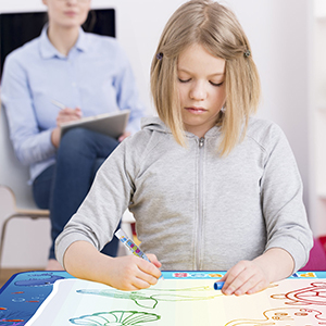 CHEERFUN water doodle mat is helpful for kids with special needs like autism ADD ADHD