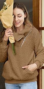 women lapel pullover