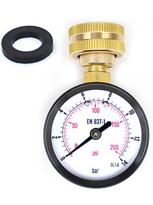 pressure gauge black steel 0-200psi