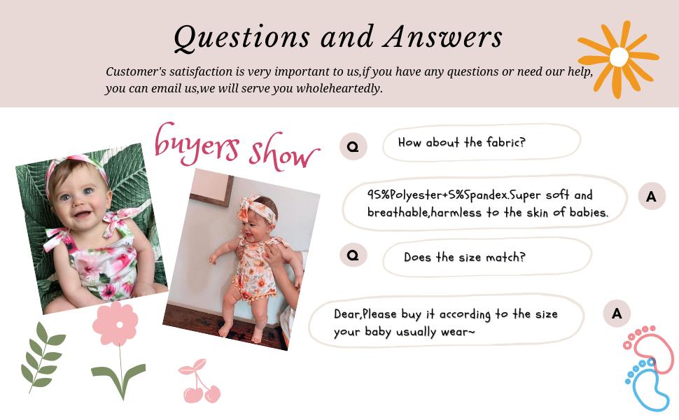 buyers show baby girls romper