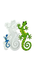 Gecko Epoxy Resin Molds(13.4in X 6in), Large Animals Epoxy Casting Mold for Resin, Wall Hanging