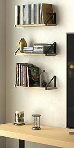 bookshelf media shelf cd dvd storage shelf living room shelf wall shelf