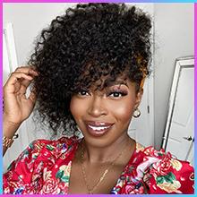 curly headband wig human hair