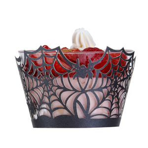 Halloween Cupcake Wrappers,Spider Web Cupcake Wrapper