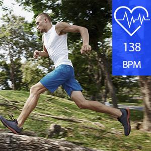 Real-time heart rate monitoring IP68
