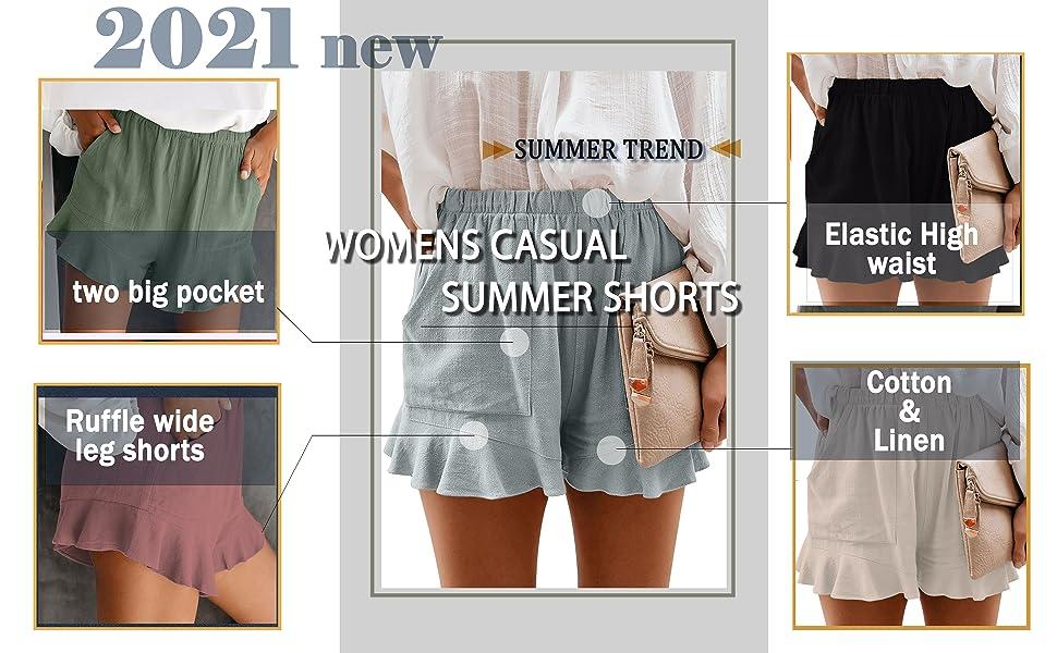 womens shorts casual