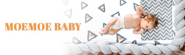 MOEMOE BABY 3 Packs Crib Sheet Set - Super Cozy Cotton Sheet for Boys and Girls  Crib