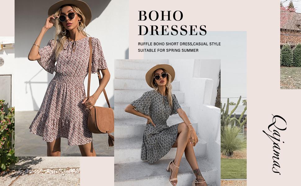 Fashion Behomian Cute Dresses