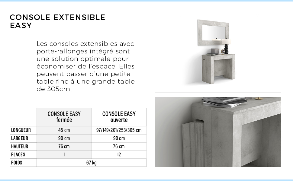Console extensible Easy