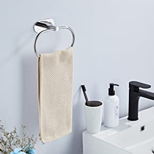 wall mounted hand towel ring