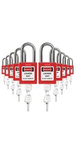 Padlocks Red 2 keys
