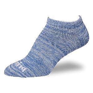 prince womens light blue low cut sock