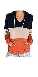 Pullover Tops for Women Drawstring Hoodeis