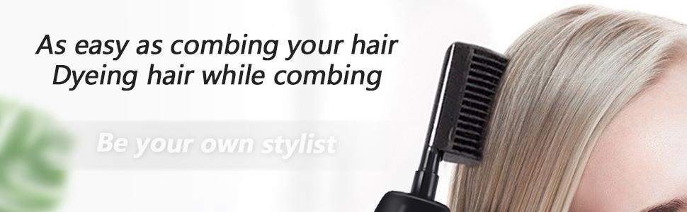 Easy use hair dye