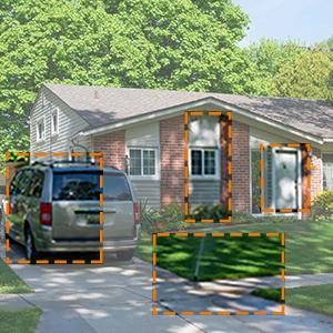 Detection area can be set to Topcony Outdoor Security Camera