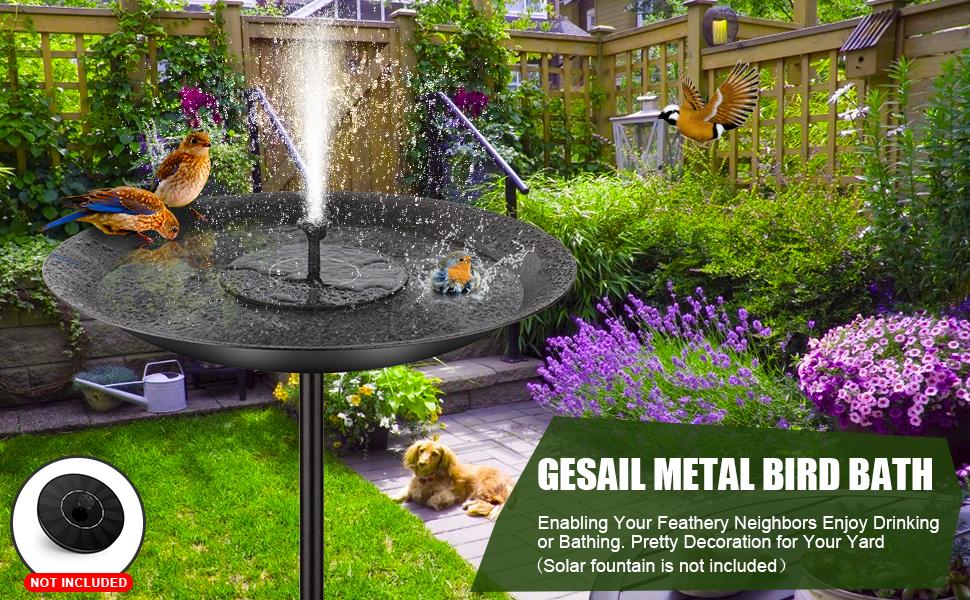 GESAIL metal birdbath