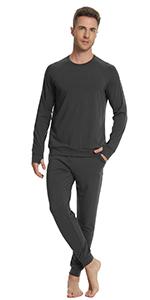 men running jooger pants bamboo sweatpants soft pajamas top long sleeve workout sport t shirt