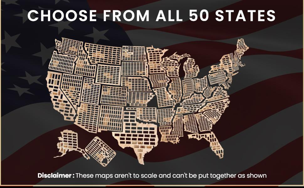 Choose from 50 states