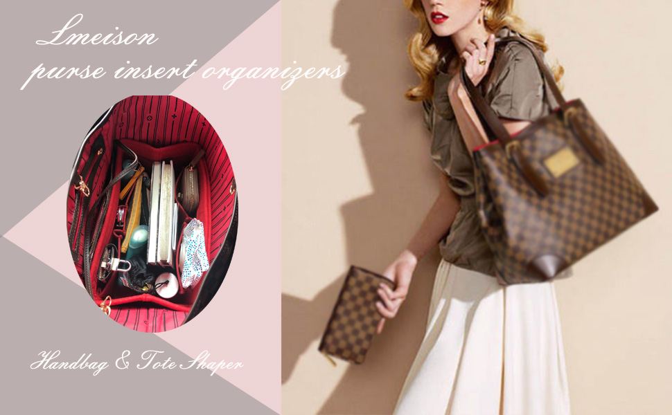 Details about  /Lmeison Felt Fabric Purse Handbag Organizer Insert Bag For Speedy Neverfull Tote