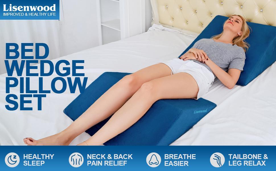 Lisenwood Wedge Pillow Navy Blue-1