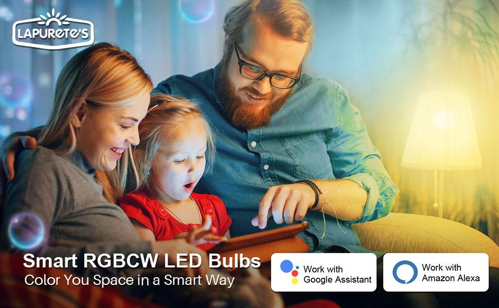Smart RGBCW Led Bulbs