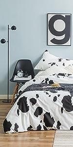 milk cow pattern duvet cover