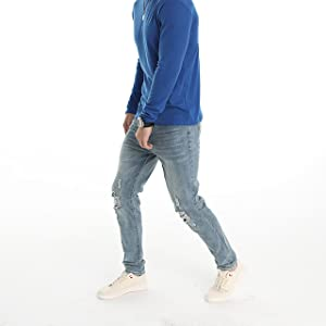 ripped skinny jeans for men blue slim fit distressed torn tapered designer stretch destroyed
