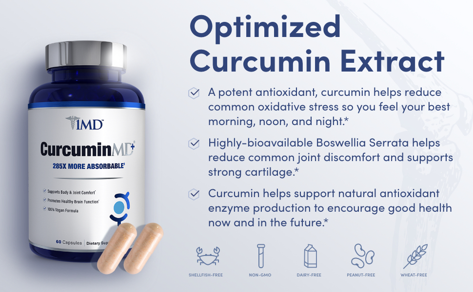 optimized curcumin extract antioxidant helps reduce oxidative stress supports strong cartilage