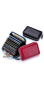12 card slots leather credit card wallet