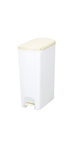トンボ ゴミ箱 26L 日本製 フタ付き ペダル式 超スリム ホワイト セパ 新輝合成