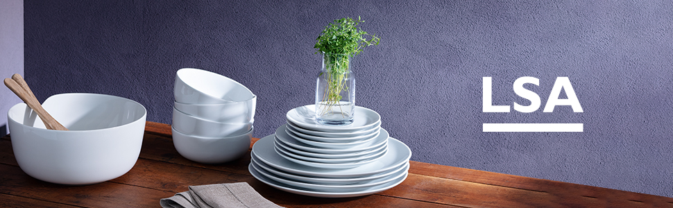 Porcelain bowls and plates