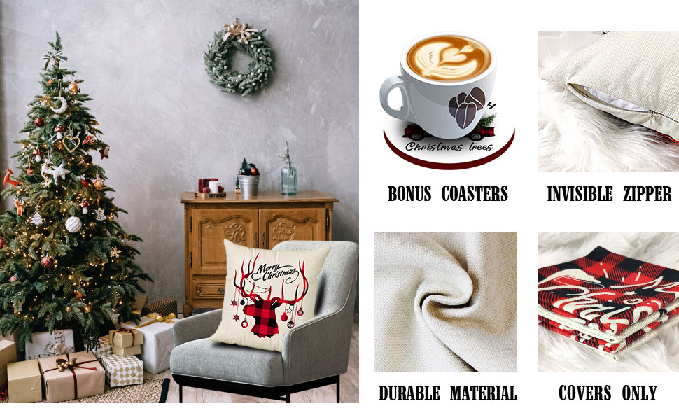 18 inch christmas pillow covers