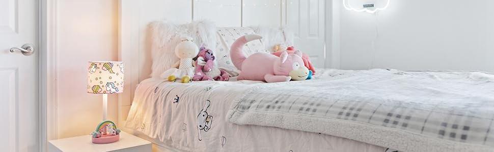 girls lamps for bedrooms nightstand,unicorn themed bedroom decor,unicorn girl furniture