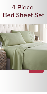 HC Collection 4-Piece Bed Sheet Set