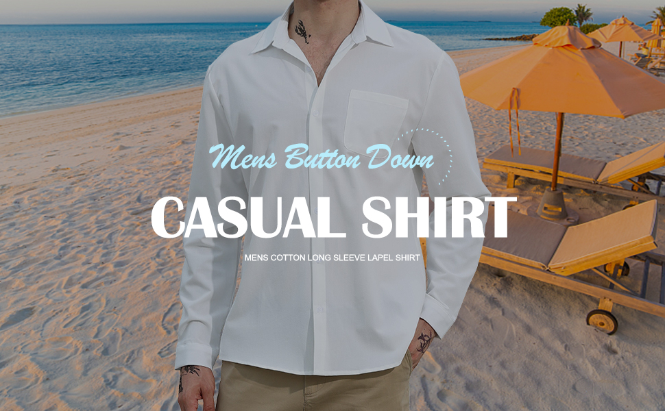Yaohuole Cotton Men shirt Buttom Dowm Casual Daily Shirt