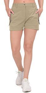 women quick dry hiking shorts
